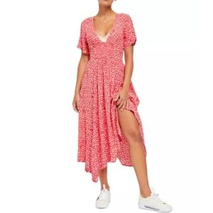 Free People In Full Bloom Dress in Red Combo